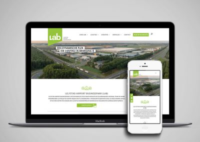 Afbeelding website LAB